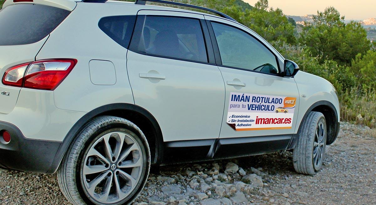 Imán rotulado publicidad coche particular