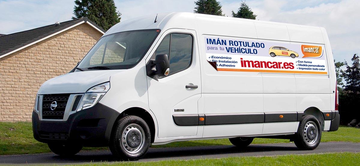 Imán rotulado publicidad furgoneta
