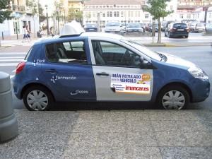 Exclusivo Autoescuelas Cubre placa L coche autoescuela